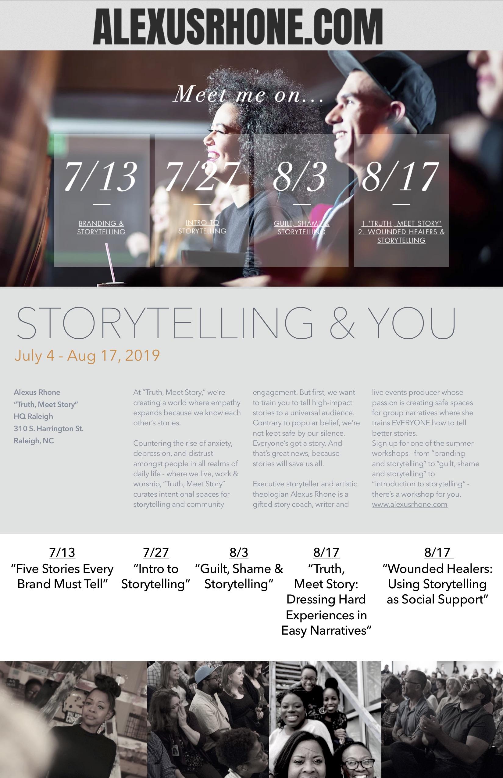 Storytelling workshop series