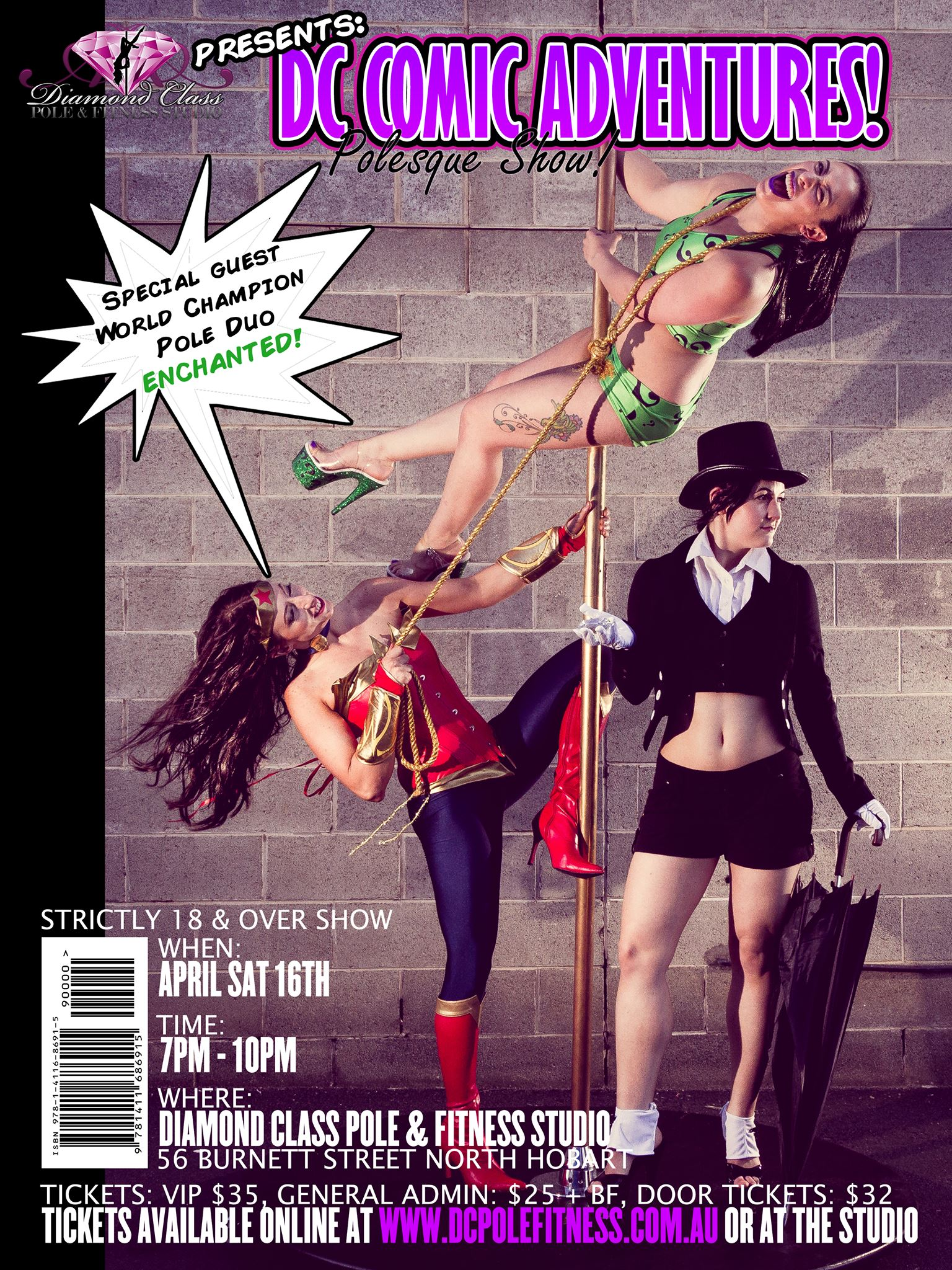 Diamond Class Pole and Fitness Studio Comic Book themed show Sat 16th April