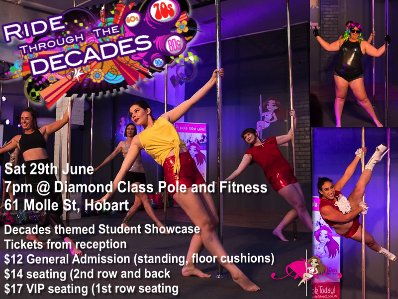Diamond Class Pole and Fitness Studio Hobart Student Showcase