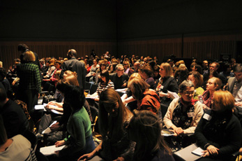Frontline Symposium 2011 - the crowd with Key Speekers