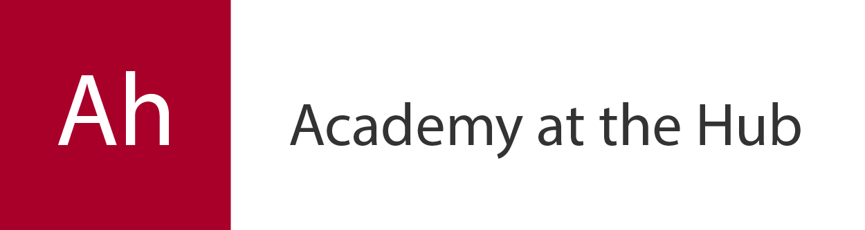Academy at the Hub header