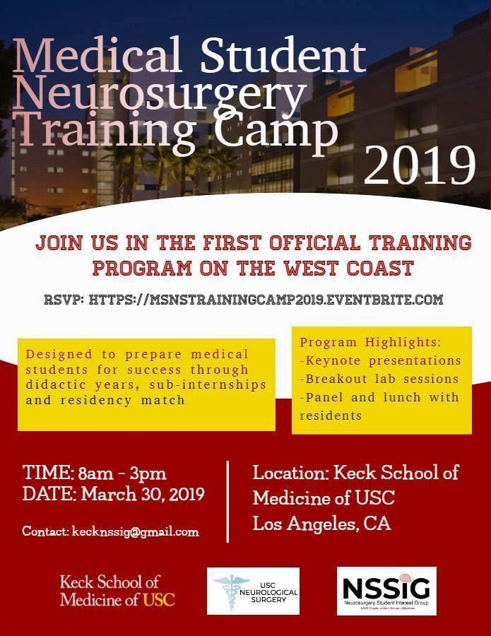 Medical Student Neurosurgery Training Camp 2019 - 30 MAR 2019