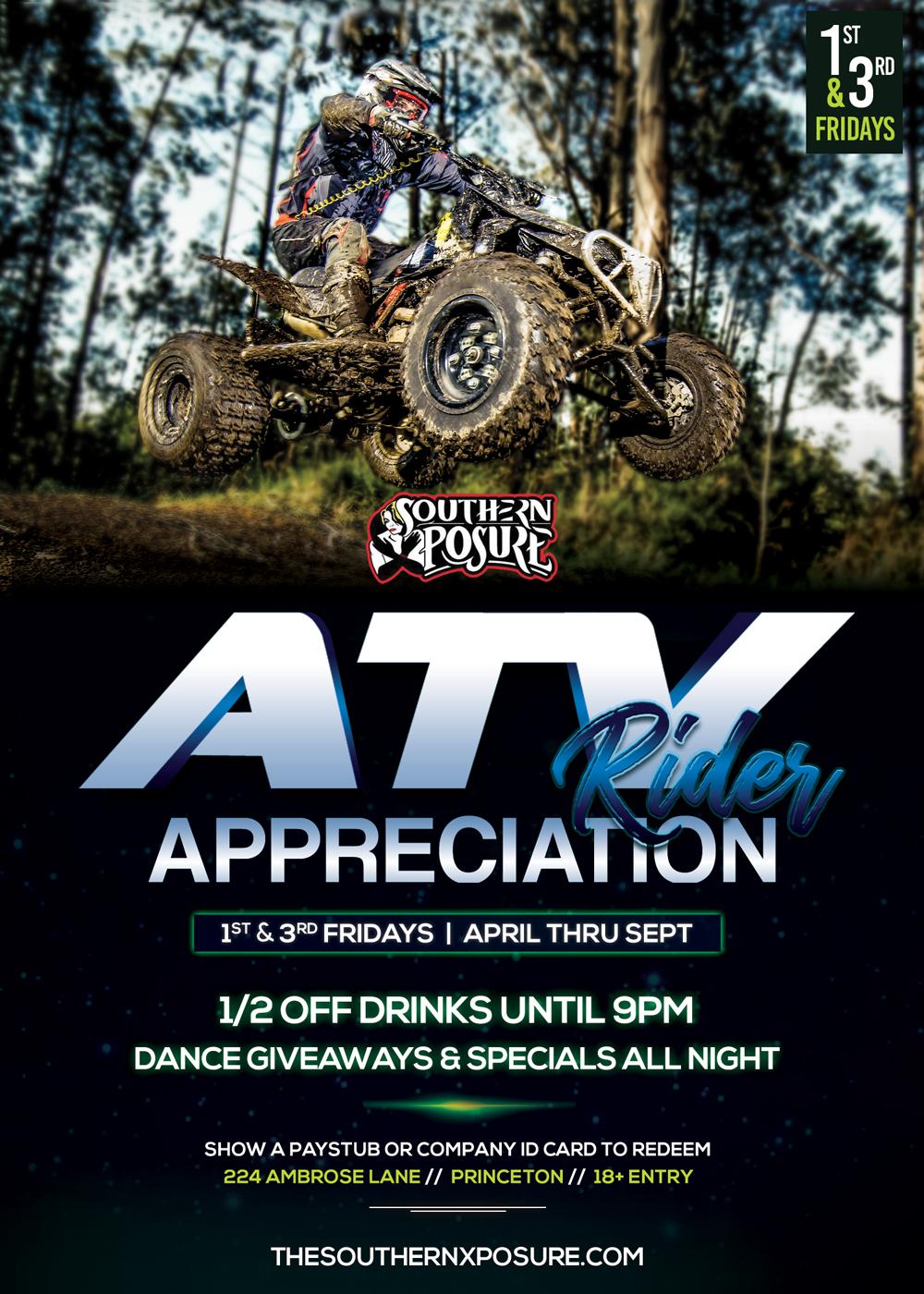 ATV Appreciation Party Southern X-Posure Gentlemen's Club Princeton West Virginia