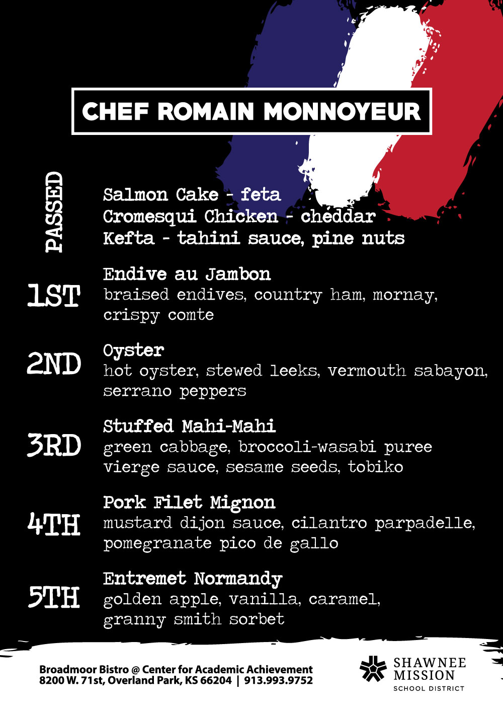 Chef Romain Menu