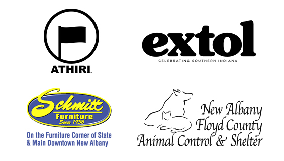 In-Kind Sponsors Athiri, Extol, Schmitt Furniture, and New Albany Floyd County Animal Control & Shelter