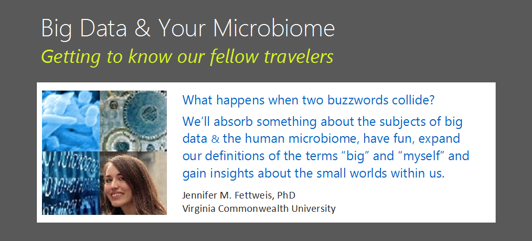 Science Pub RVA - Big Data + Micriobiomics