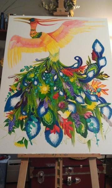 Alumna Maggie Alerding's Painting-in-Progress
