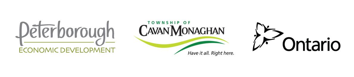 Peterborough Economic Development Logo, Township Of Cavan Monaghan Logo, Ontario Logo