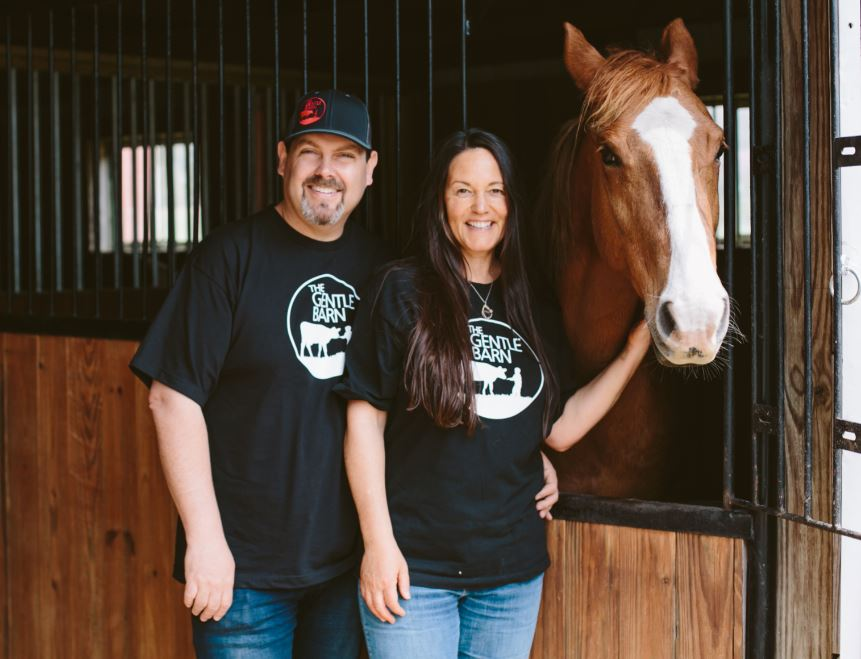 The Gentle Barn Founders, Ellie Laks and Jay Weiner
