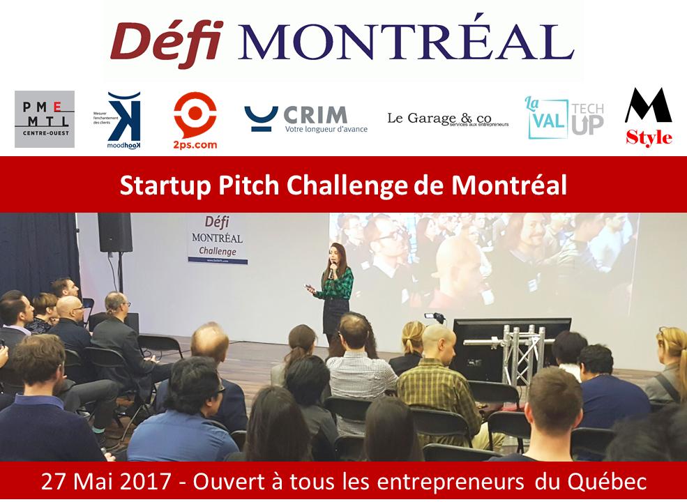 Concours Elevator Pitch Défi Montréal
