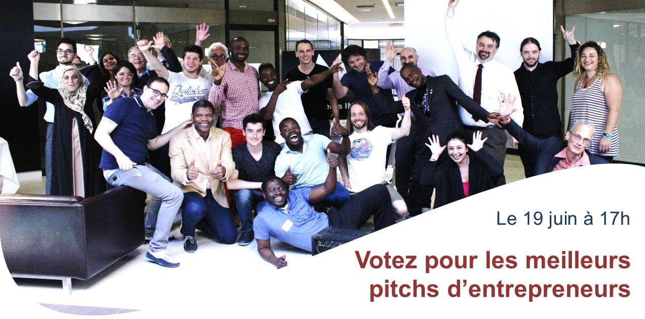 Votez pour les meilleurs pitchs d'entrepreneurs