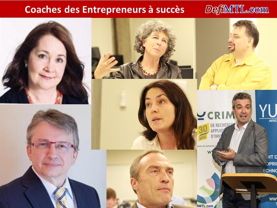 Coaches des entrepreneurs à succès Défi Montréal