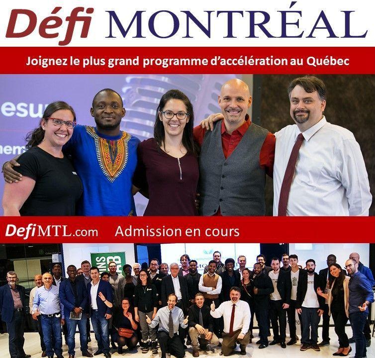 Défi Montréal - Admissions en cours