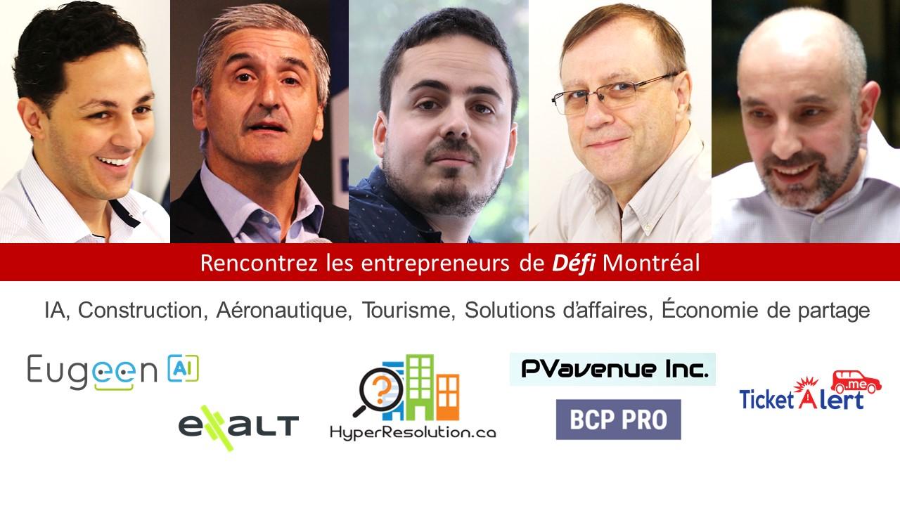 Entrepreneurs exposants Défi Montréal