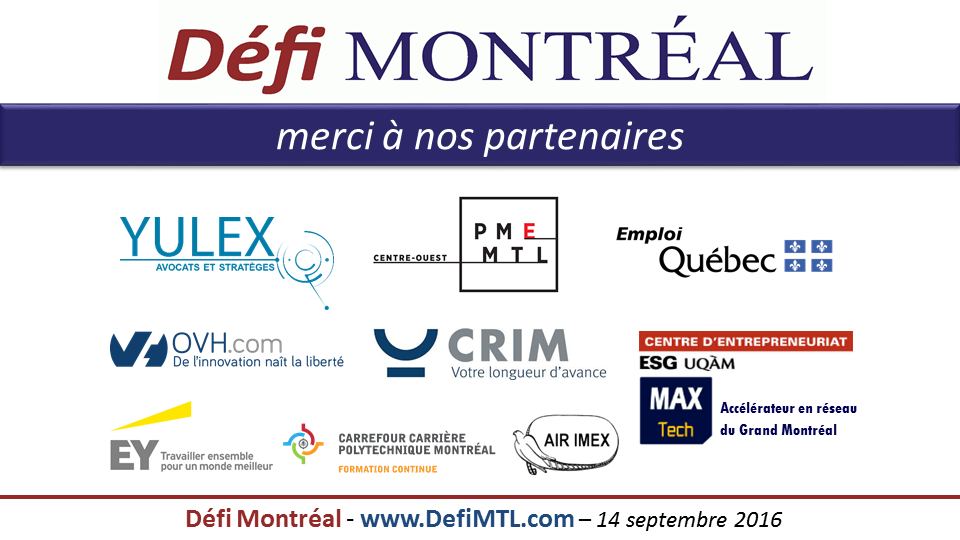Partenaires Défi Montréal