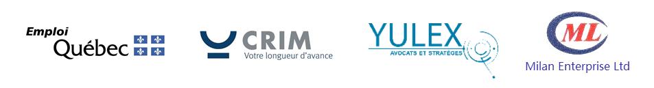 Partenaires Défi Montréal - Emploi Québec CRIM YULEX Avocats Milan Entreprises