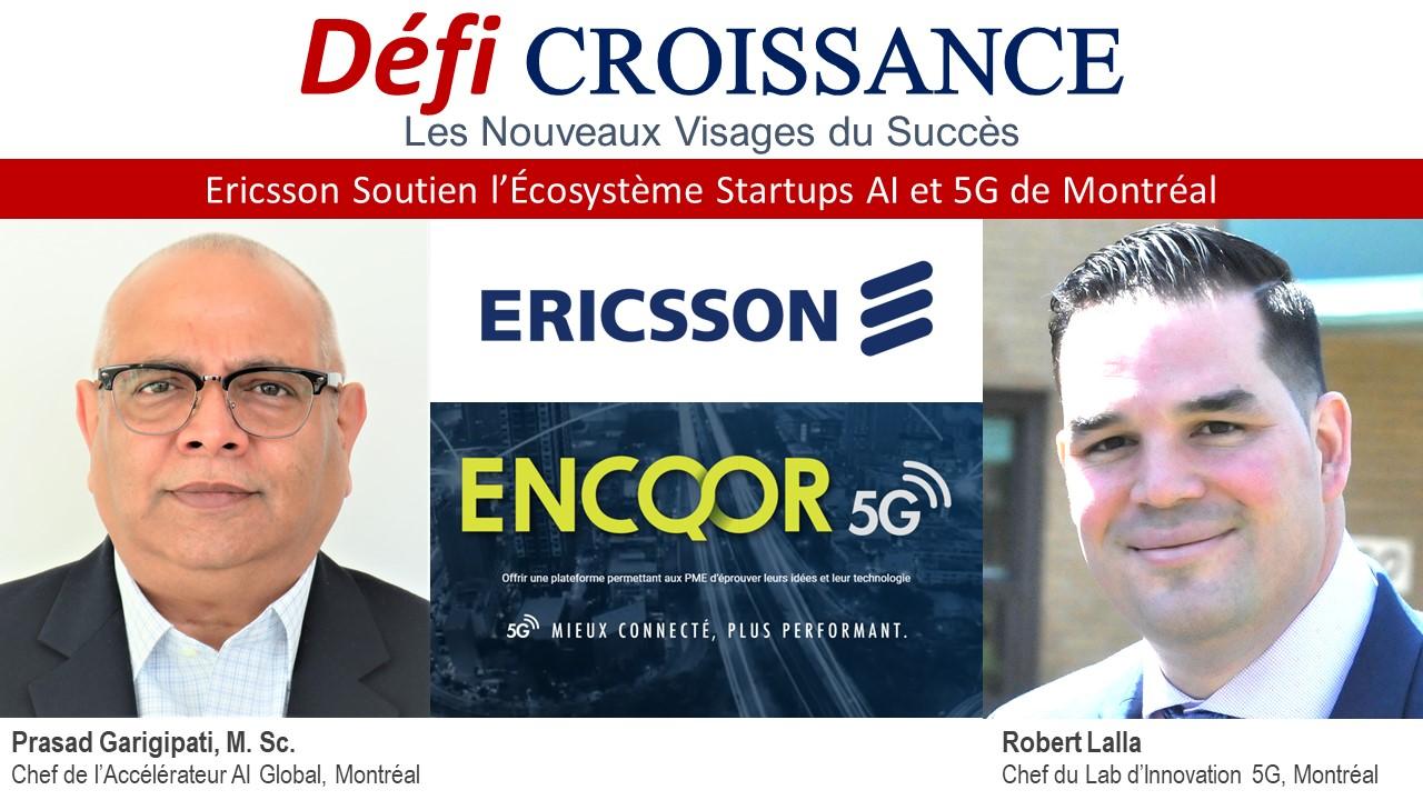 Ercisson soutien l'écosystème Startup du Québec