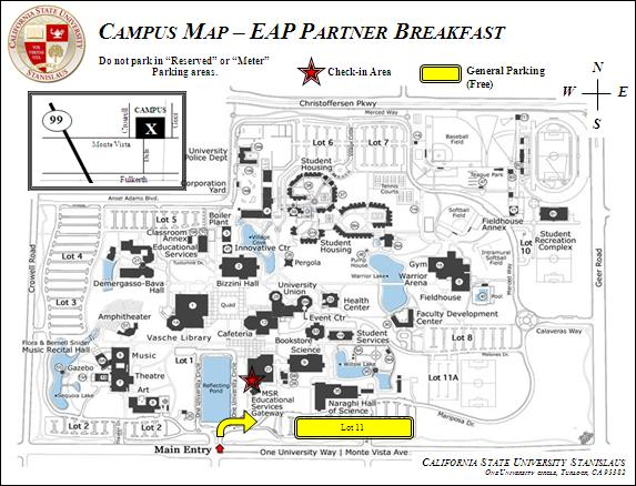 CSU Stanislaus campus map