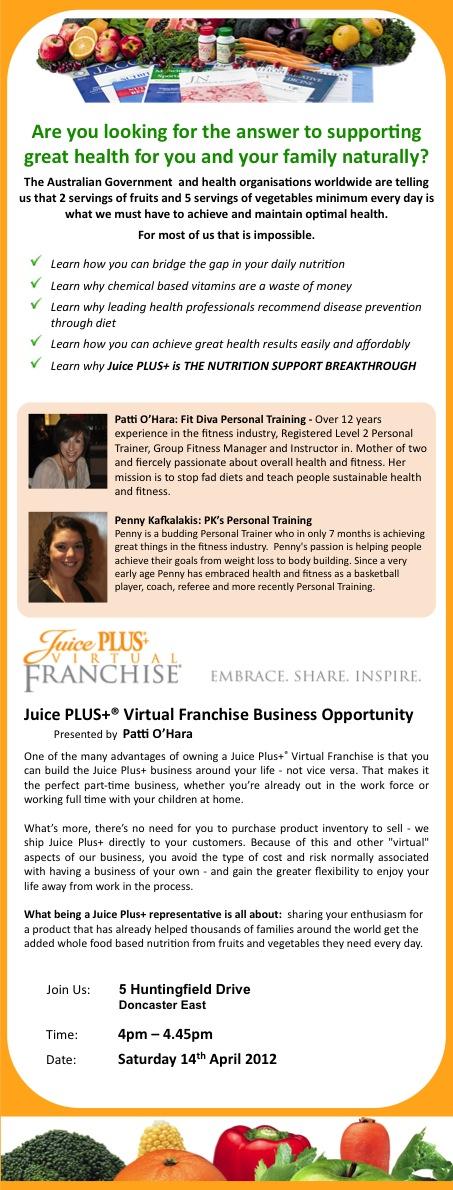The Juice Plus Virtual Franchise Tickets, Sat, Apr 14 ...
