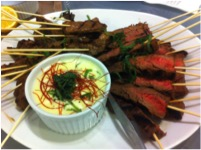Grilled Beef Yakatori Skewers with Shiso Béarnaise