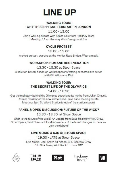Save Hackney Wick 10 June event