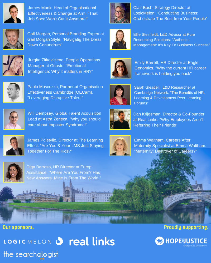 March Cambridge Speakers