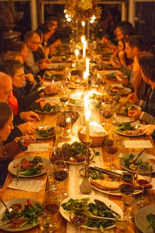 2018 Harvest Dinner in the Glasshouse