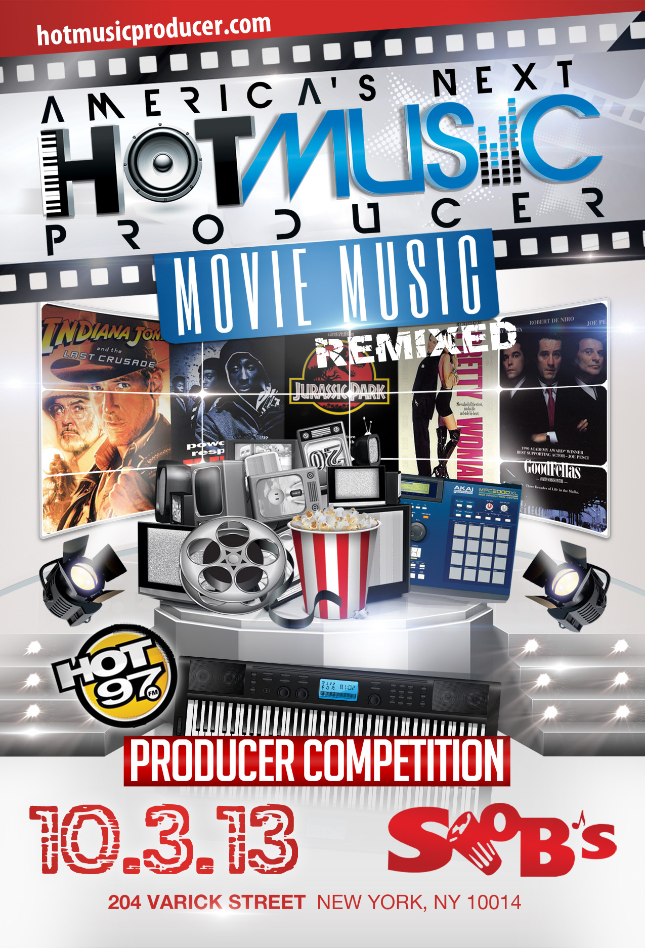 Flyer for America's Next Hot Music Producer Movie Music Episode