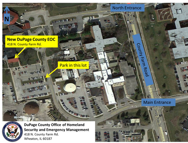 DuPage County EOC Map Directions