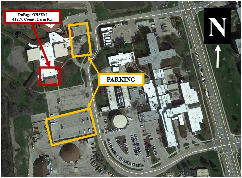 Parking Map for DuPage OHSEM