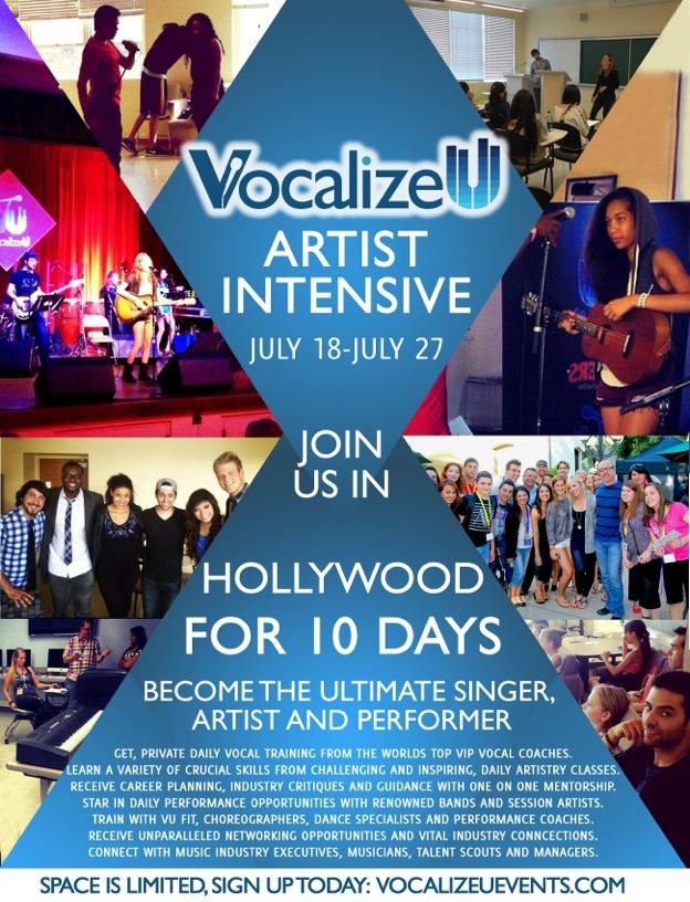 VocalizeU Artist Intensive 2014 Flyer