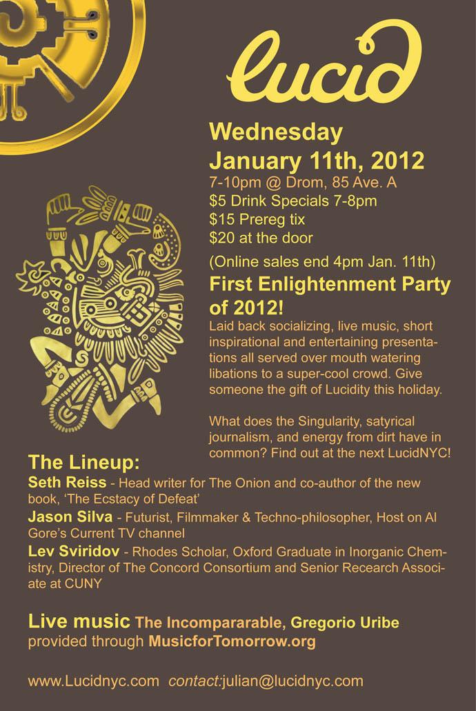 Lucid Invitation Jan. 11 2012
