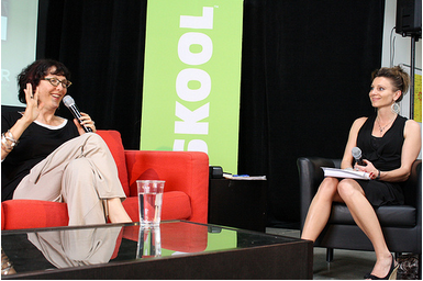Lynda Weinman and Tatjana Luethi during the MOVE! Keynote Talk