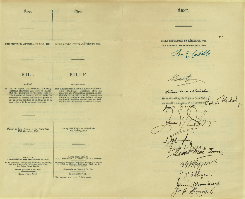 Republic of Ireland Act 1948 1402