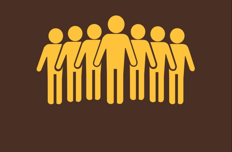University of Wyoming Diversity, Equity & Inclusion Office logo showing stick figures of people standing together