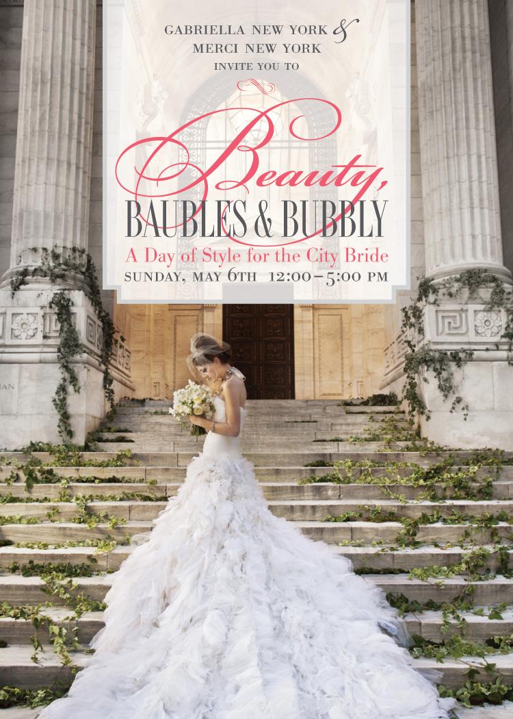 Beauty, Baubles and Bubbly Invitation