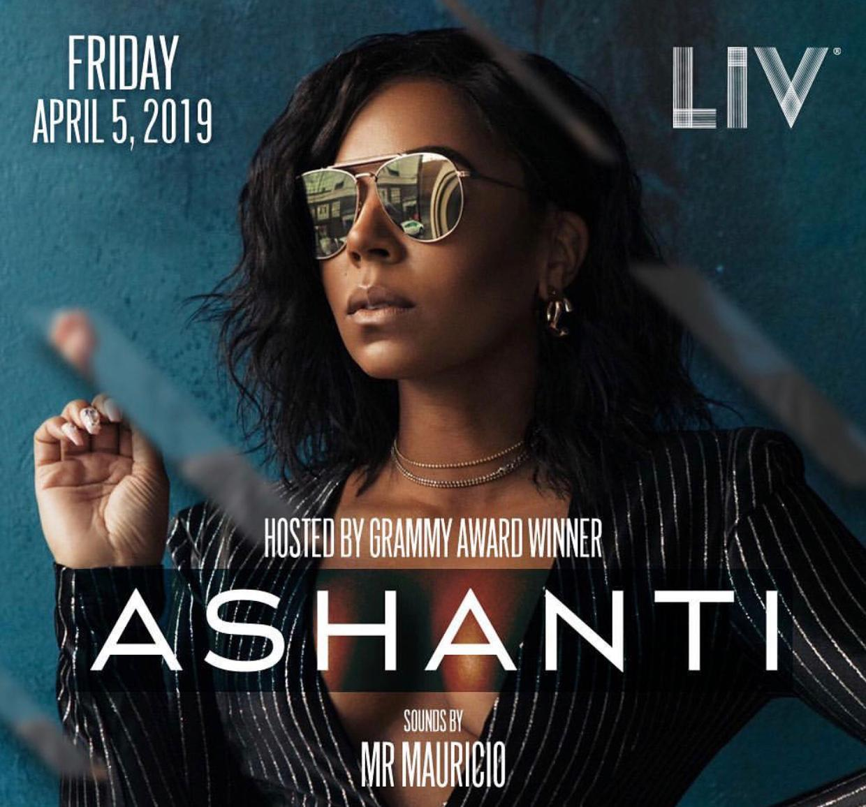 Ashanti at LIV Miami