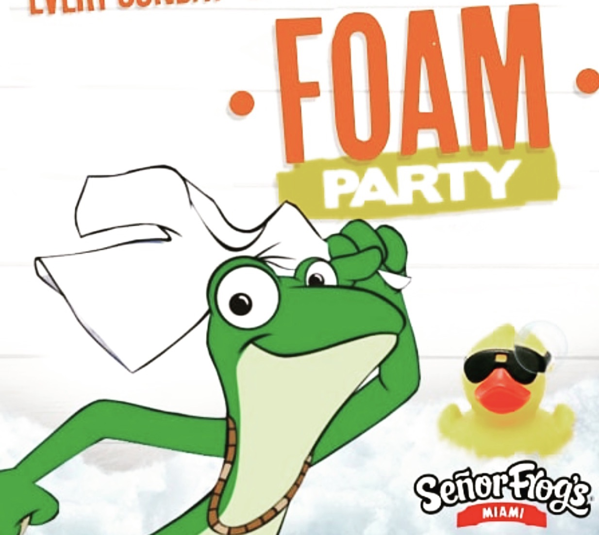 FOAM Party at Senor Frog's