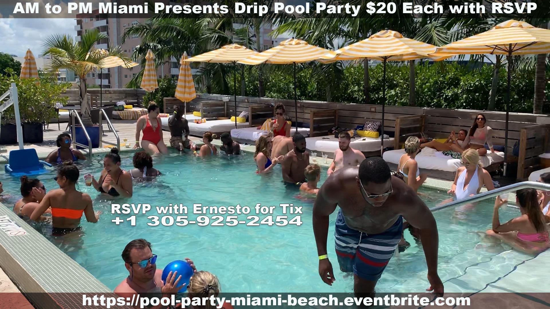 DRIP Pool Party Miami Beach