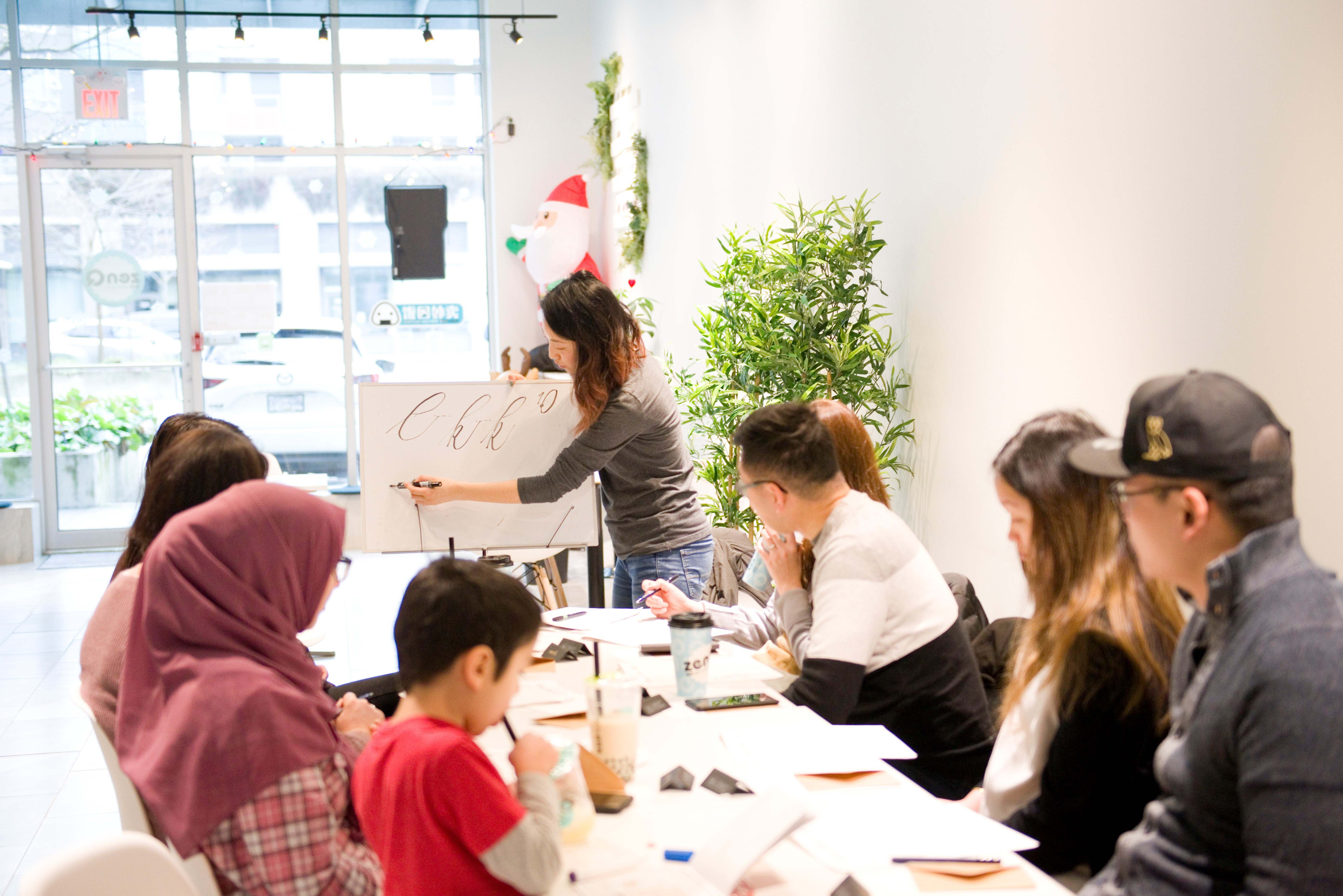 calligraphy workshop vancouver brush lettering