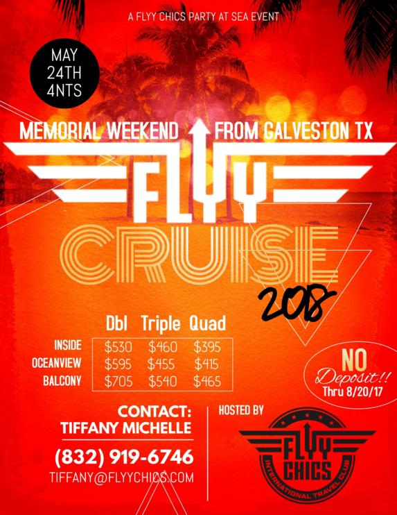 Flyy Cruise 2018 Memorial Weekend from Galveston, TX