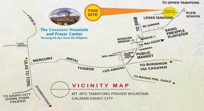 Prayer Mountain Vicinity Map