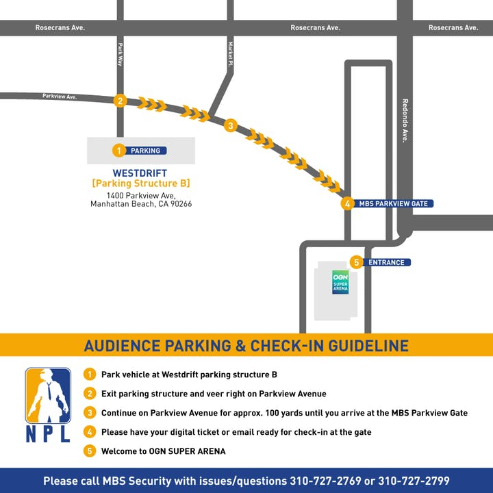 OGN Parking Map Directions