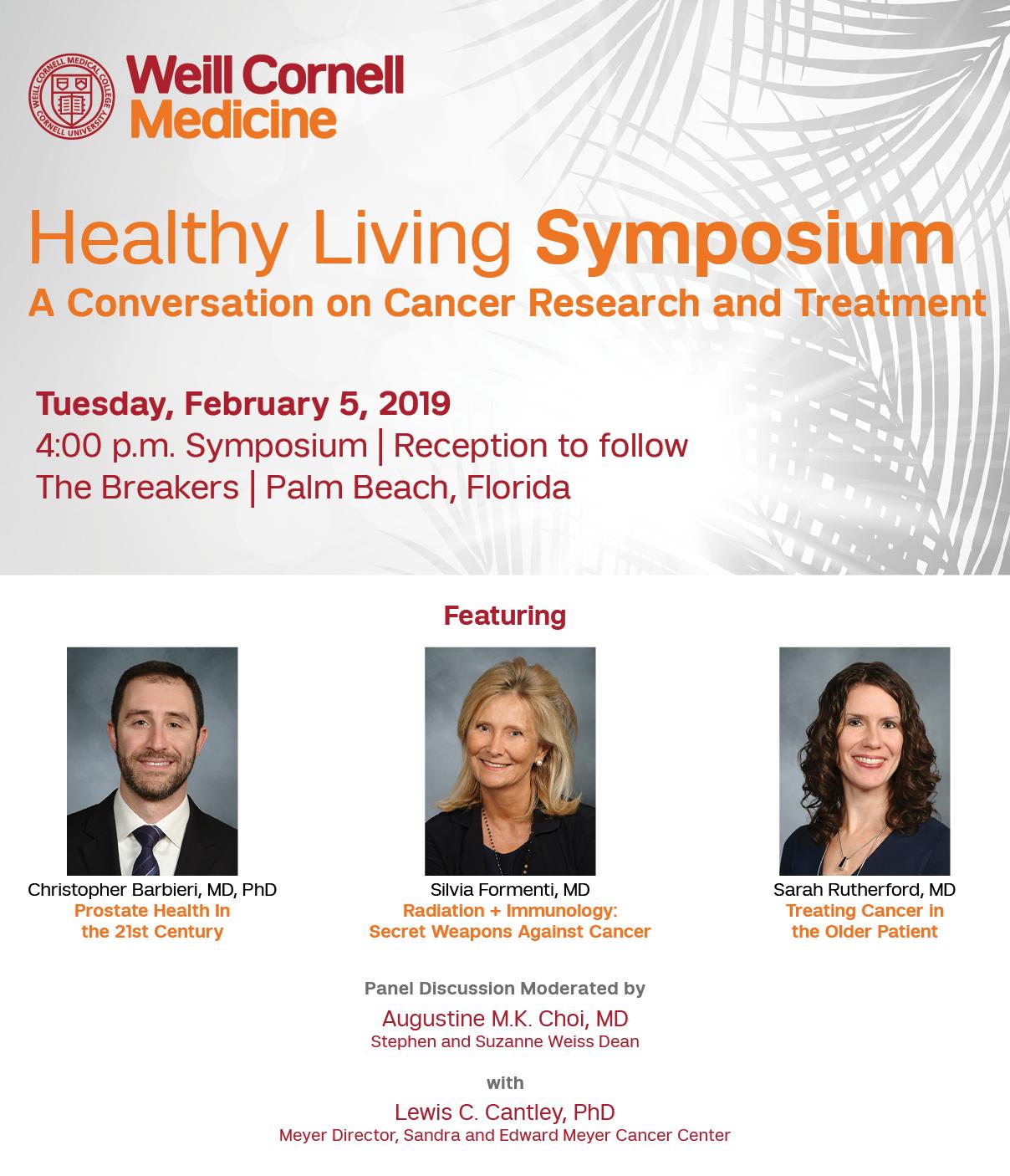 Healthy Living Symposium Details