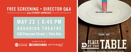 FREE SCREENING: A Place at the Table + Director Q&A