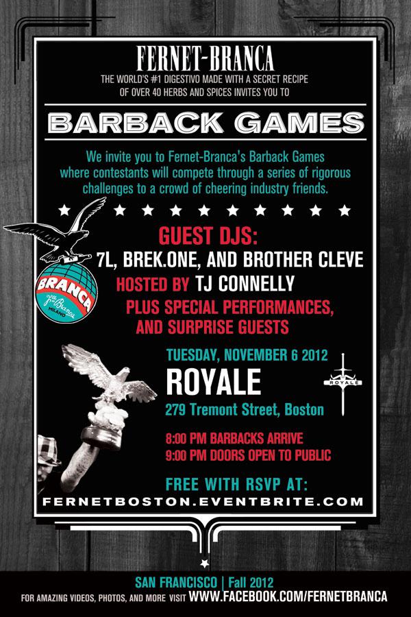 Fernet Barback Games - BOSTON FLYER