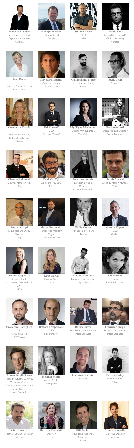 Decoded Fashion Milan 2014 Speakers