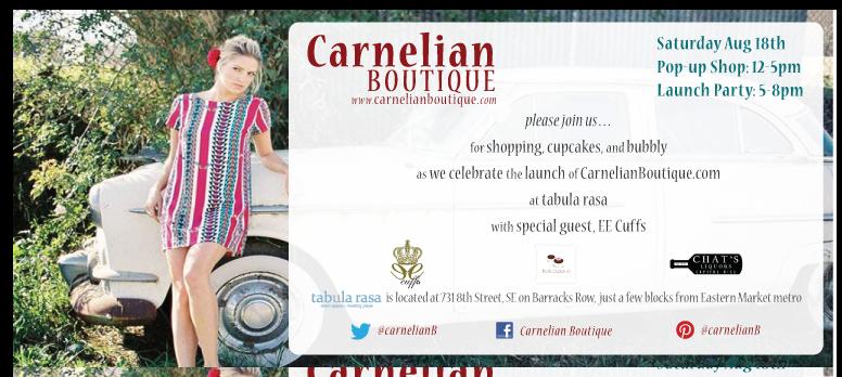 carnelian popup invite