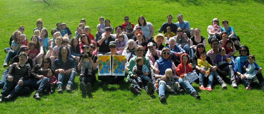 A picture of the attendees of last year's International Family Visibility Day Event!