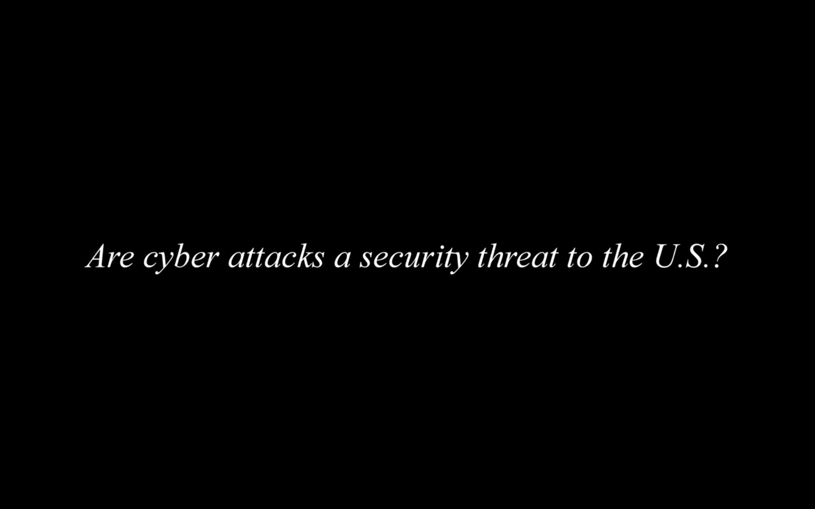 Hayden Cyber Security Video